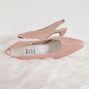 Vintage Nine West Shoes 9 Heels Slingback Kitten